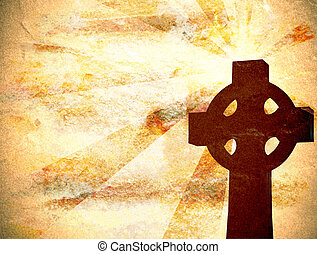 chrétien, croix, fond