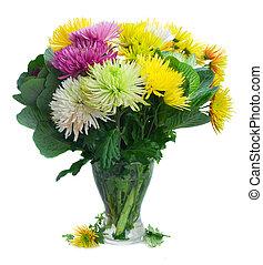 chrisantemum, bouquet, fleurs
