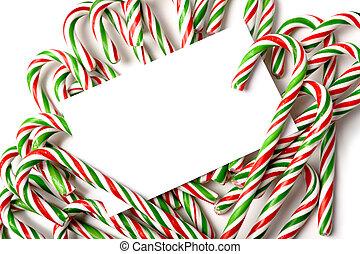 Chrismas Candy Cane Notecard or Invitation