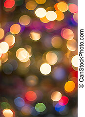 Chrismas lights bokeh - Colorful defocused christmass tree...
