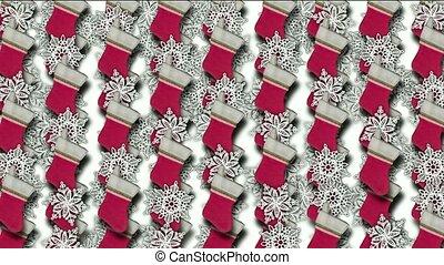 chrismas socks & rotate snowflake background.