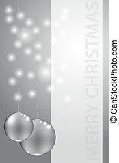 chrismas, tarjeta, con, mensaje, marco