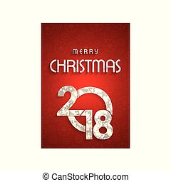 Chrismtas card wiith red pattern background