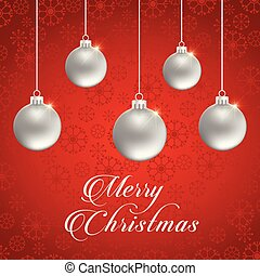 Chrismtas card with pattern background