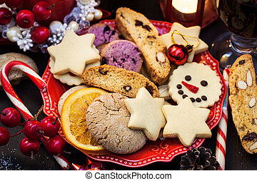 Chrismtas cookies, Holiday concept