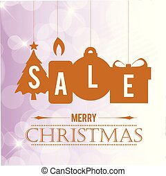 Chrismtas sale banner with pattern background