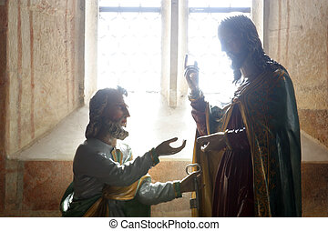 christ, 攙扶, the, 鑰匙, 到, st 彼得