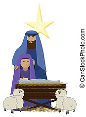 Christ Child - an illustration of baby Jesus