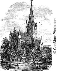 Christ Church Cathedral in Fredericton, New Brunswick,...