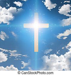 Christ - Cross in sky