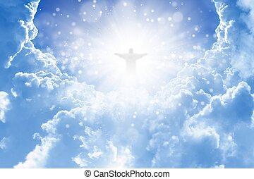 christ, dans, ciel