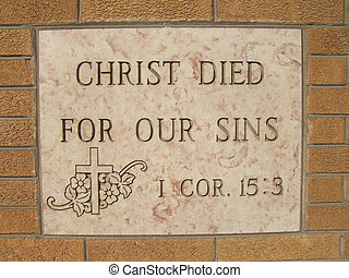 Christ Died For Our Sins - Verse from Corinthians in the...