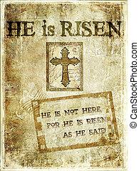"""christ, es, risen"", plano de fondo"