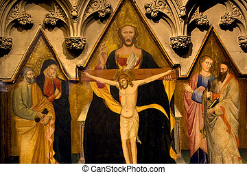 Christ Holy Spirit Painting Trinity Church New York City - ...