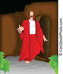 christ, ilustração, jesus