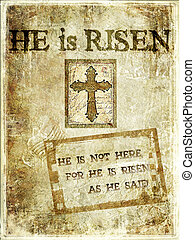 """""""Christ Is Risen"""" Background - Religious Words in grunge..."""