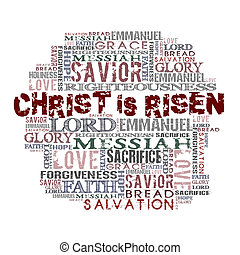 Christ Is Risen - Religious Words isolated on white