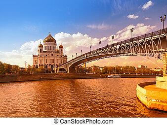 christ, moscou, -, sauveur, cathédrale, russie
