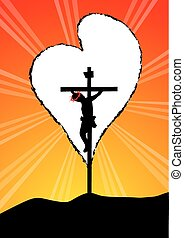 Christ on Cross-God is love