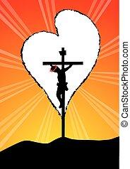 Christ on Cross-God is love