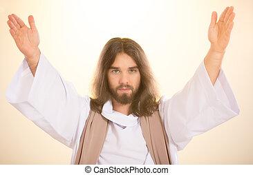 Christ on light background