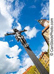 Christ on the cross in Cesky Krumlov
