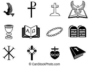 christ, religiöses, zeichen & schilder, und, symbo