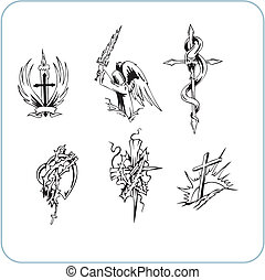 christ, religion, -, vektor, illustration.