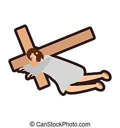christ, seconde, jésus, ligne, chutes