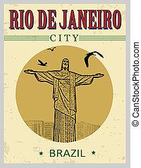 Christ the Redeemer from Rio De Janeiro poster - Christ the...