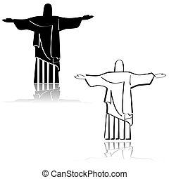 Christ the Redeemer - Concept illustration showing an icon...