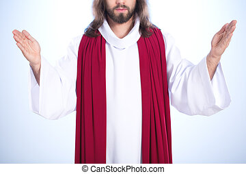 Christ with open arms