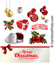 Christams elements collection in editable vector format