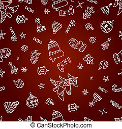 Christmas picture vector pattern