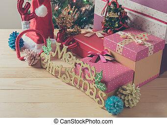 Christbaumkugeln Modern.Modern Baum Detail Metallisch Holz Tisch Weihnachten Tönung