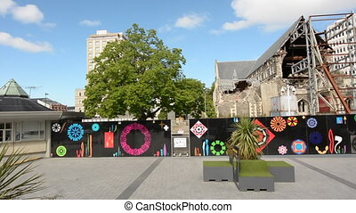 ChristChurch Cathedral Square.The 2011 Christchurch...