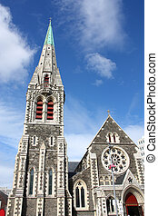 Christchurch, New Zealand - Christ Church Anglican cathedral...