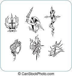 christen, religie, -, vector, illustration.