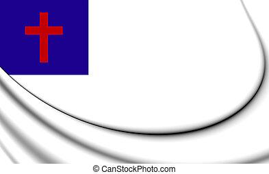 Christian 3D Flag
