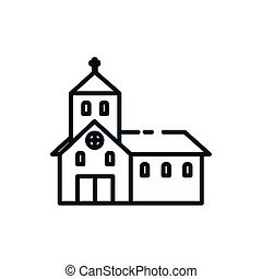 Christian and catholic church symbol vector design