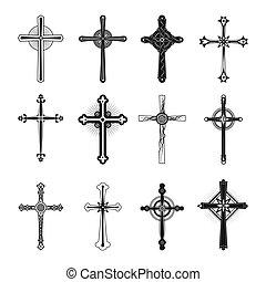 Christian and catholicism religion crosses