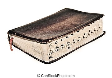 Christian Bible Scriptures old book - Old sepia antique...