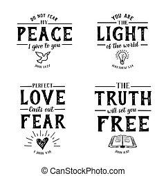 Christian Bible Verse Hand lettering Scripture Emblem Collection