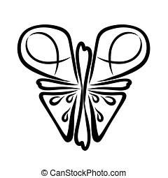 Christian butterfly with symbols on the wings