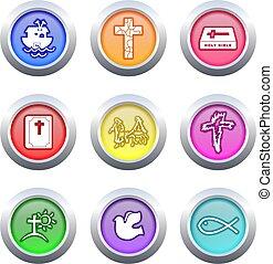 christian buttons