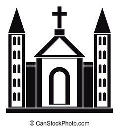 Christian catholic church building icon