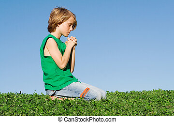 christian child praying