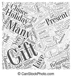 christian christmas gift Word Cloud Concept