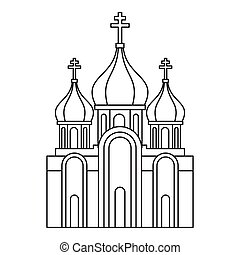 Christian church icon, outline style