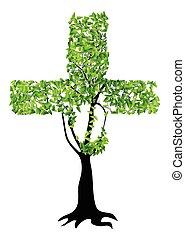 christian cross as tree